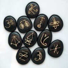 Reiki Symbols carve on Stones